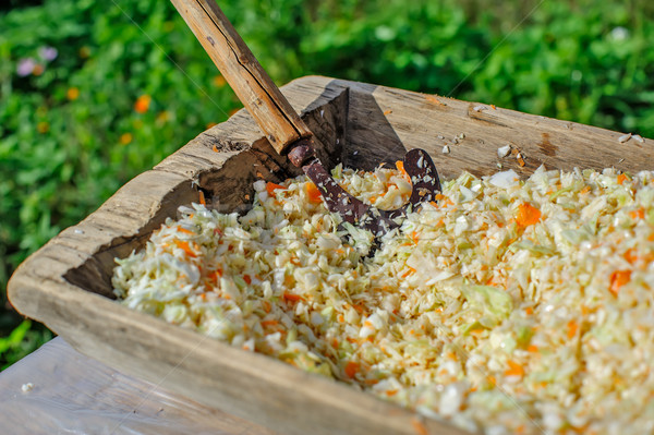 Fresh chopped cabbage and carrot Stock photo © mahout