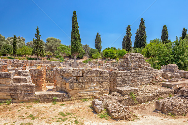 Ruins of ancient town Gortyna on Crete, Greece Stock photo © mahout