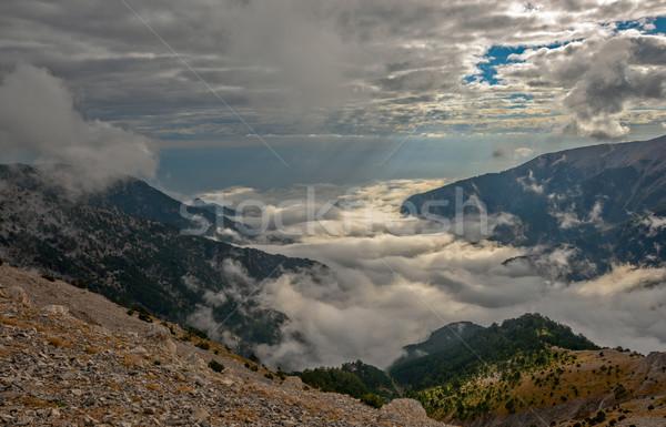 Montagna panorama Grecia cielo natura estate Foto d'archivio © mahout