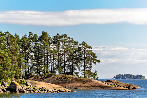 Islands in finland gulf Stock photo © mahout