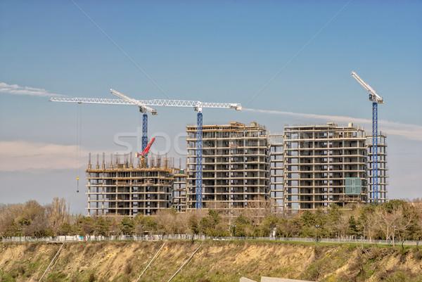 Edificios cielo ciudad trabajo casa Foto stock © mahout