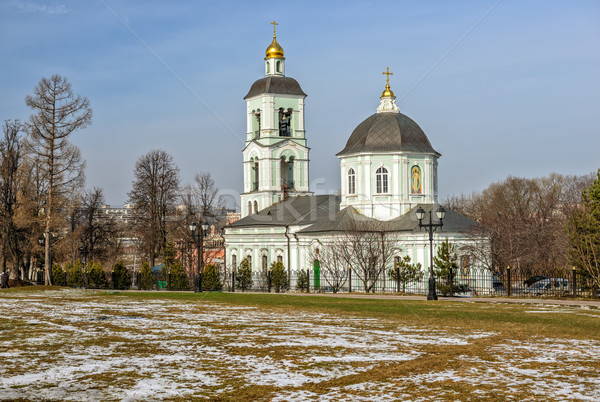 Church in Moscow park. Russia Stock photo © mahout