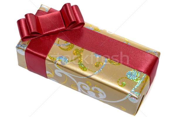Geschenk boeg geïsoleerd witte papier Stockfoto © mahout