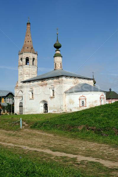 Eski rus ortodoks kilise kasaba gökyüzü Stok fotoğraf © mahout