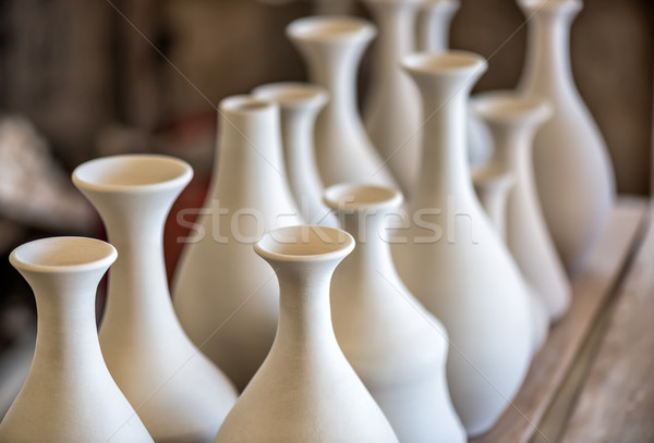 Shelve with ceramic dishware Stock photo © mahout