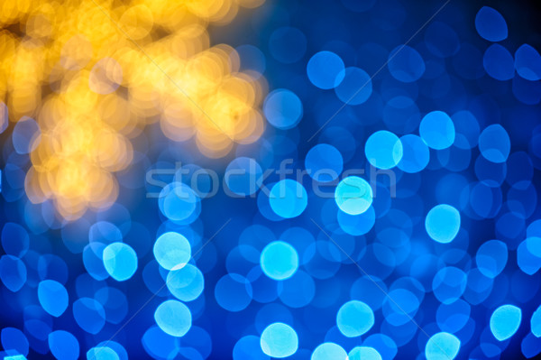 Turva floco de neve azul luzes natal luz Foto stock © mahout