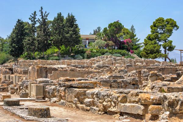 Paleis Griekenland archeologische plaats hemel stad Stockfoto © mahout