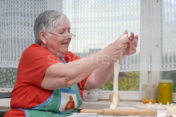 Foto stock: Mão · madeira · casa · cozinha