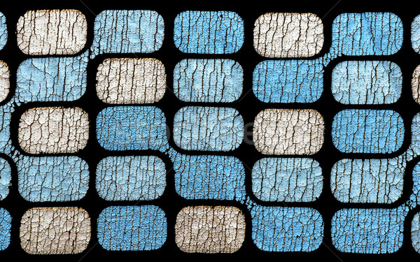 Old pattern with cracked shapes on black Stock photo © mahout
