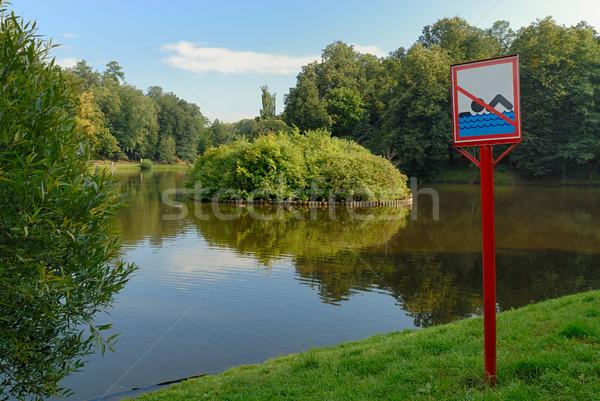 No swimming sign Stock photo © mahout