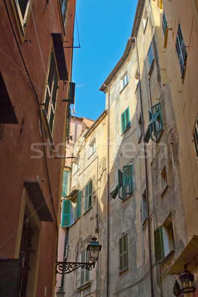 Street with old buildings Stock photo © mahout