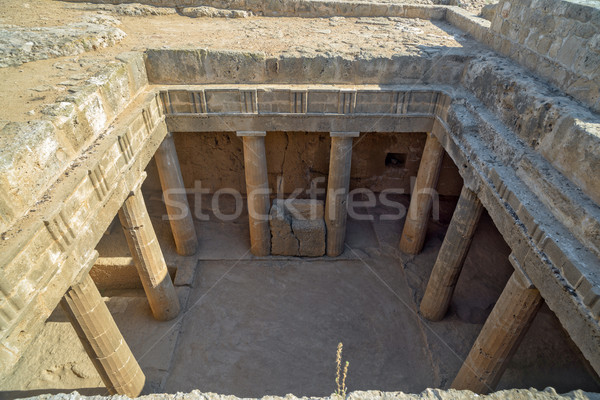 Ancient ruins in Paphos on Cyprus Stock photo © mahout