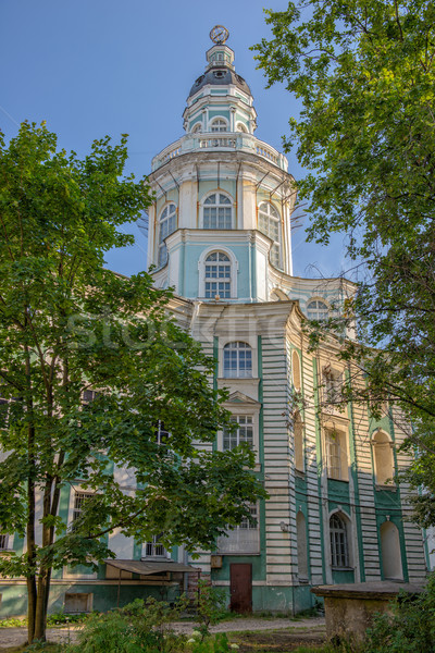 Tower of Kunstkamera museum in St. Petersburg Stock photo © mahout