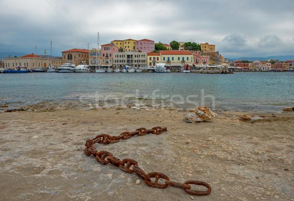 Velho porta ilha Grécia veneziano água Foto stock © mahout