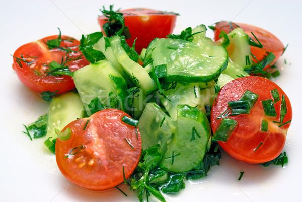 Vegetales ensalada verduras frescas alimentos luz salud Foto stock © mahout
