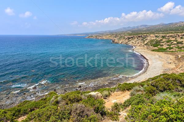 Costa península Chipre parque praia água Foto stock © mahout