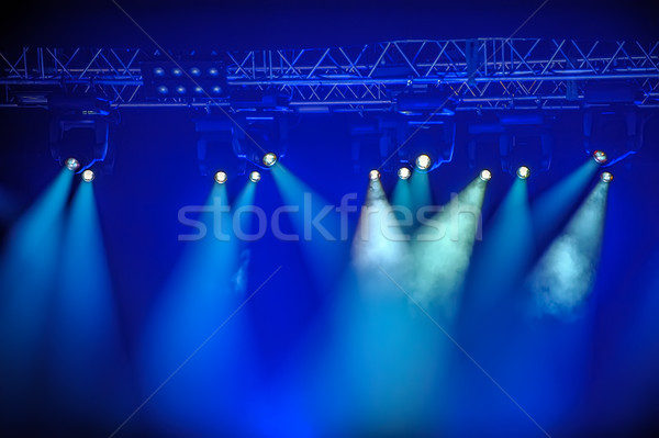Blue spotlights on stage Stock photo © mahout