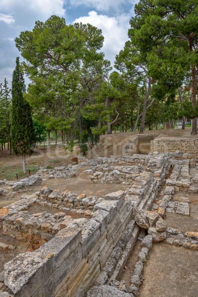 Palota Görögország régészeti helyszín fal építészet Stock fotó © mahout