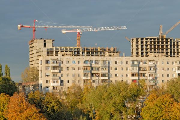 Foto stock: Edad · apartamento · casa · construcción · grúa · edificio