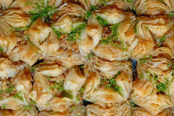 Dulces fondo torta Servicio dulce tuerca Foto stock © mahout