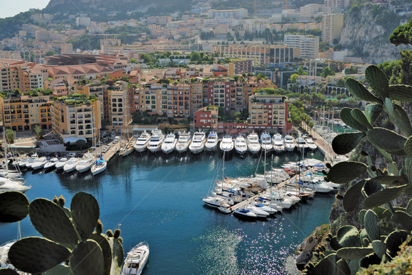 Yachts and apartments in port Fontvieille in Monte Carlo Stock photo © mahout