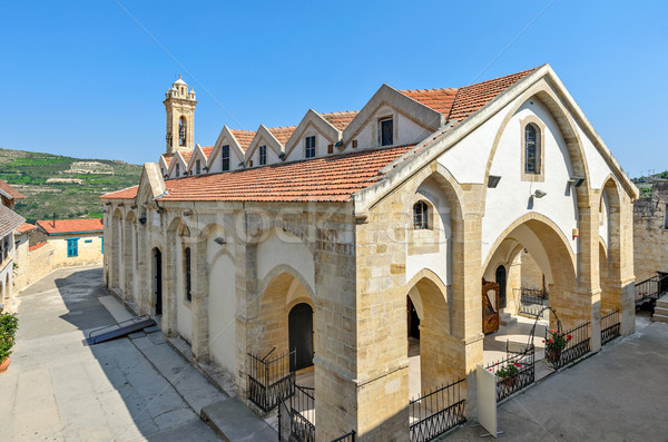 Photo stock: église · Chypre · orthodoxe · monastère · village · mur