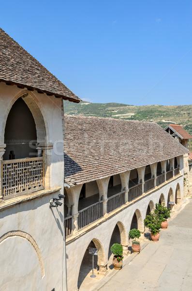 Ortodoxo monasterio Chipre pueblo pared Jesús Foto stock © mahout