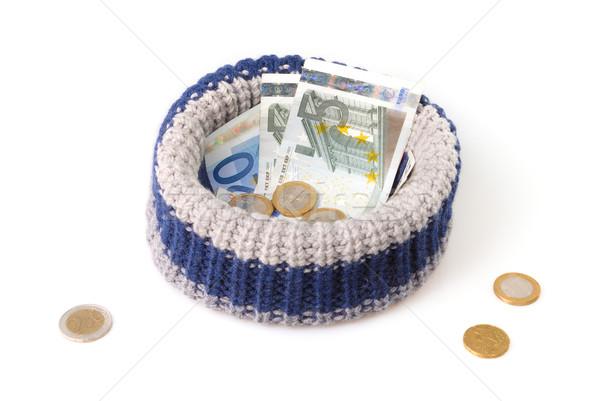 Mendigo seis isolado branco euro pobre Foto stock © mahout