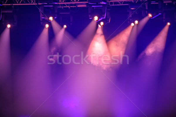 Purple stage spotlights Stock photo © mahout