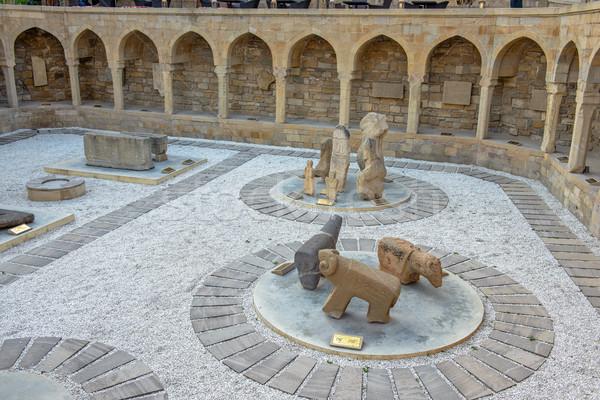 öreg város Azerbajdzsán építészet klasszikus történelem Stock fotó © mahout