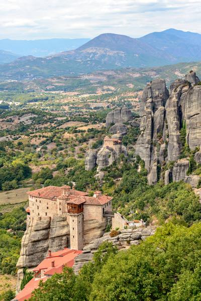 Monasterio superior rocas Grecia cielo Foto stock © mahout