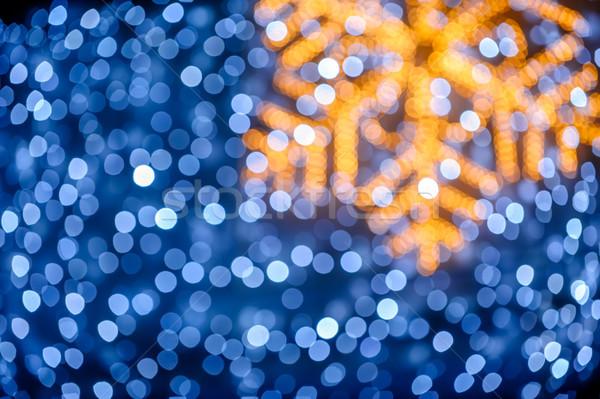Borroso copo de nieve luces Navidad luz fondo Foto stock © mahout