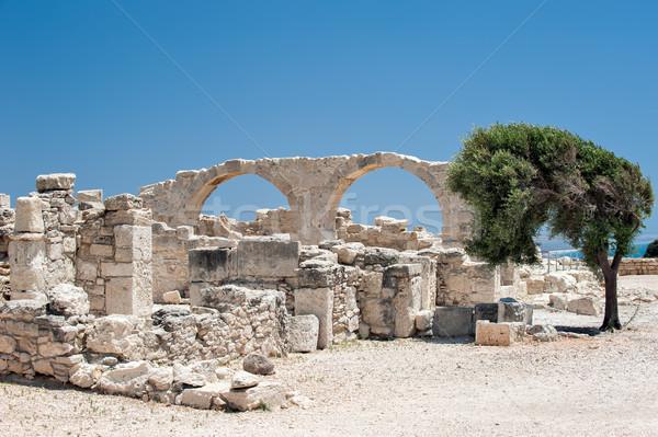 руин рано христианской базилика Кипр древних Сток-фото © mahout