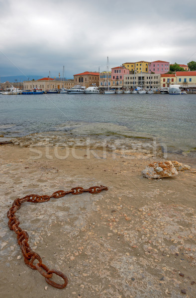 Old port in Chania on Crete island. Greece Stock photo © mahout