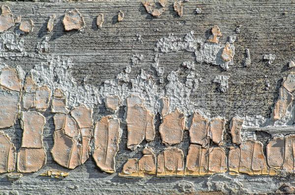 Foto stock: Rachado · pintar · velho · textura · abstrato