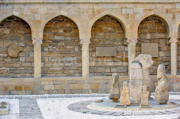 Archaeological exposition in old city, Baku, Azerbaijan Stock photo © mahout
