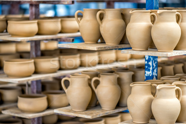 Shelves with ceramic dishware  Stock photo © mahout