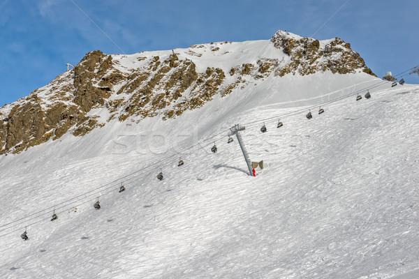 Esquí Resort Rusia invierno montana paisaje Foto stock © mahout