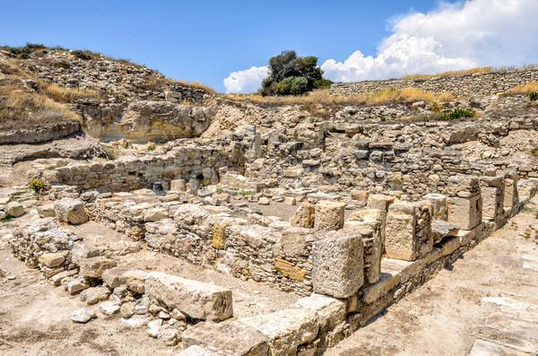 Ruinas antigua ciudad Chipre mar azul Foto stock © mahout