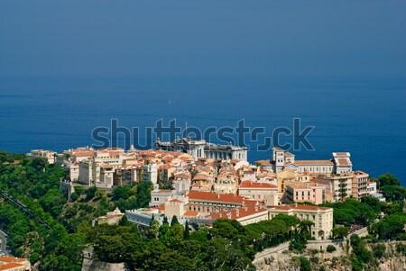 Palacio museo Mónaco barrio antiguo catedral agua Foto stock © mahout