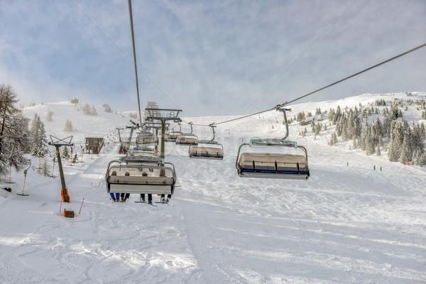 Alpine ski resort winter landschap helling Stockfoto © mahout