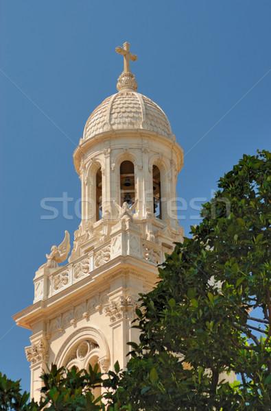 Bel toren kerk Monaco huis kruis Stockfoto © mahout