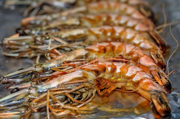 Grillezett közelkép kilátás étel hal eszik Stock fotó © mahout