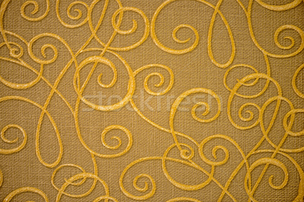Golden textile pattern Stock photo © mahout