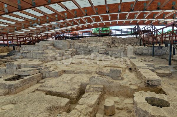 Ruínas casa Chipre antigo cidade cidade Foto stock © mahout