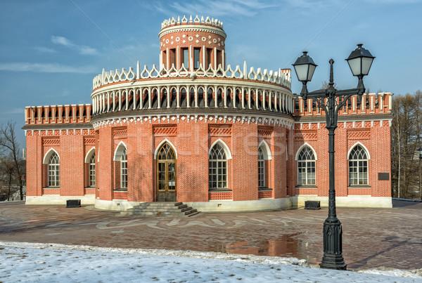 Tijolo parque Moscou Rússia edifício Foto stock © mahout
