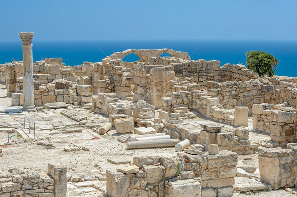 Ruins of basilica in ancient town Kourion on Cyprus Stock photo © mahout