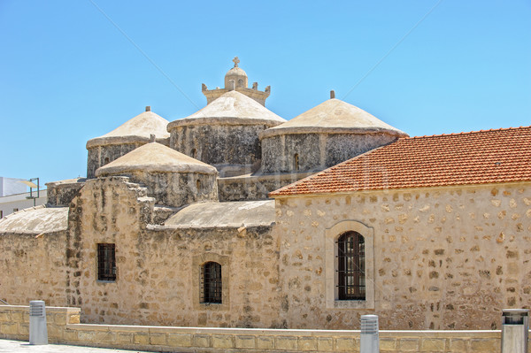Church with five domes of Agia Paraskevi in Paphos. Cyprus Stock photo © mahout