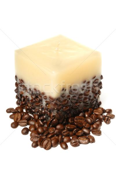 свечу кофе изолированный белый кофе расслабиться Сток-фото © mahout