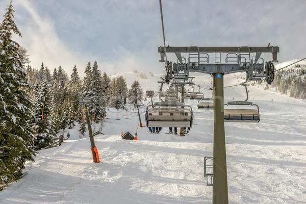 лыжных курорта зима пейзаж склон альпийский Сток-фото © mahout